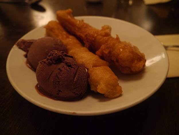 Banana Fritters and Ice cream
