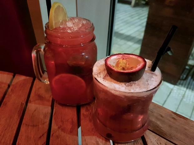 Virgin Strawberry Mojito and an Elderflower Mocktail