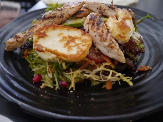 Superfood Salad w/ Halloumi and Chicken