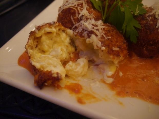 Open Fried Mac n Cheese