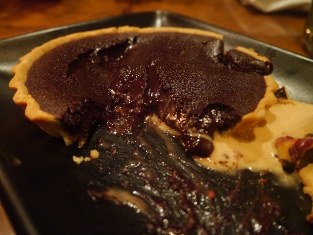 Chocolate tart 350RS [£3.50]