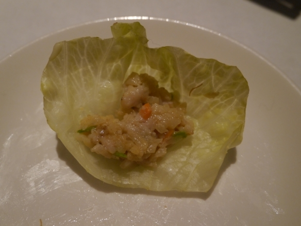 Minced Chicken Lettuce Wraps