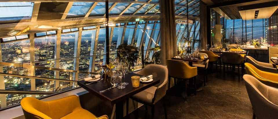 Fenchurch Restaurant halal restaurants in london with a view