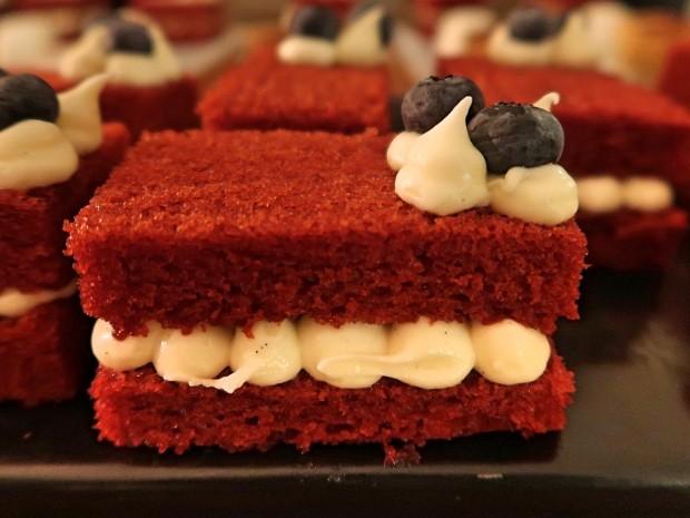 Fire and Smoke Red Velvet Cake