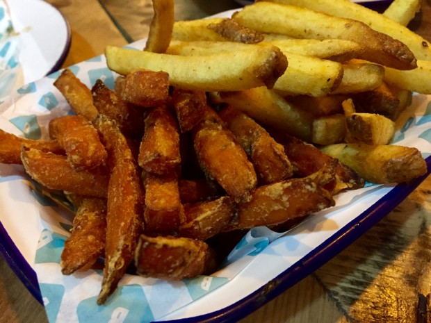 Sweet Potato [£3.50] and Rustic [£2.50] Fries