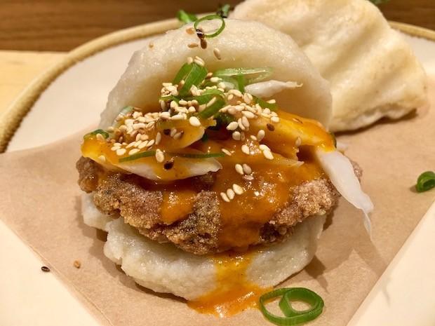 fried chicken bun