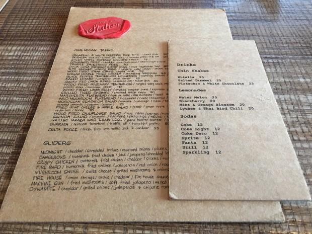 Huge menu!
