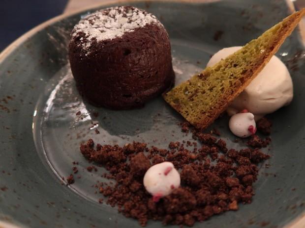 Chocolate Fondant with Cinnamon Kulfi