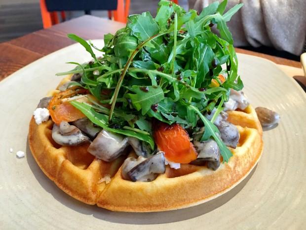 Savoury Waffle [45AED ~ £8.50]