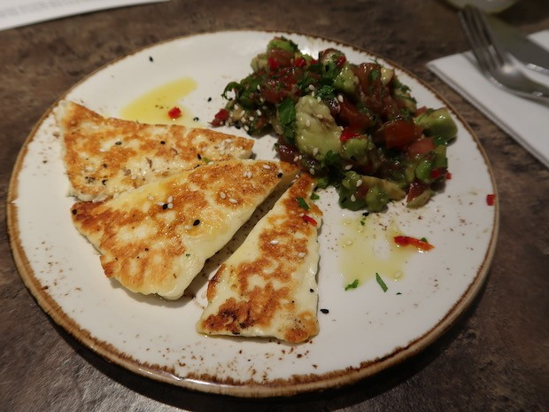 Grilled Halloumi with Avocado [£7.00]