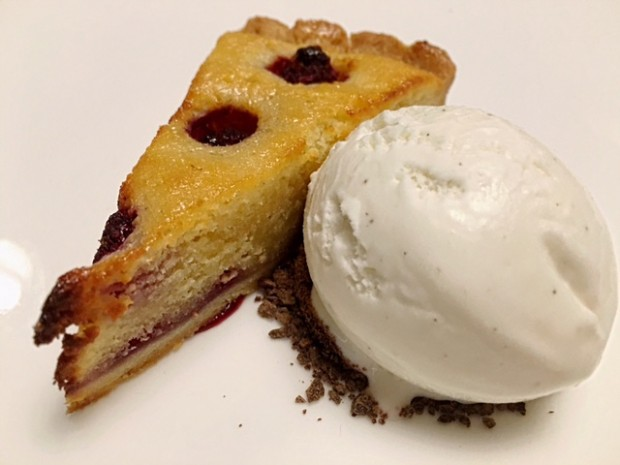 Raspberry Bakewell w/ Vanilla Ice Cream [£5.95]