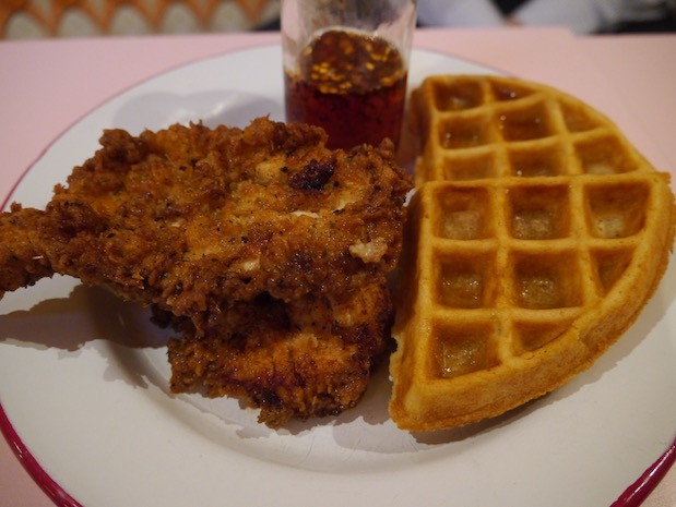 Buttermilk Dipped Chicken and Waffles [£9.00]
