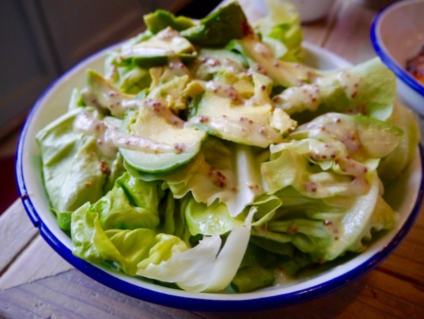 avocado and butter lettuce salad