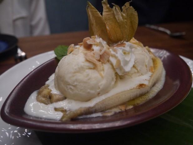 Caramelised Banana with Ice Cream