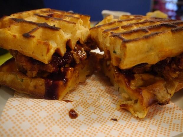 Chicken & Waffle Burger [£12.00]