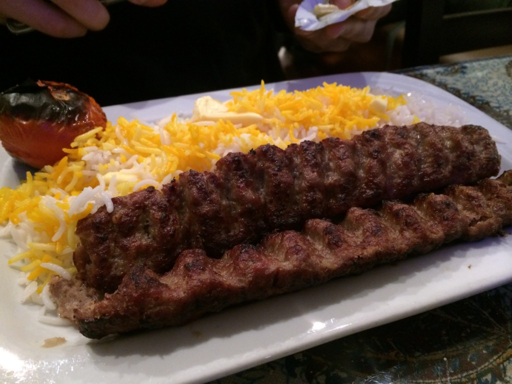 koobideh kabab Highly fragrant and fun to eat, air fryer persian kabab koobideh is an iranian meat kabob typically cooked on a hot grill it is served with grilled tomatoes and rice.