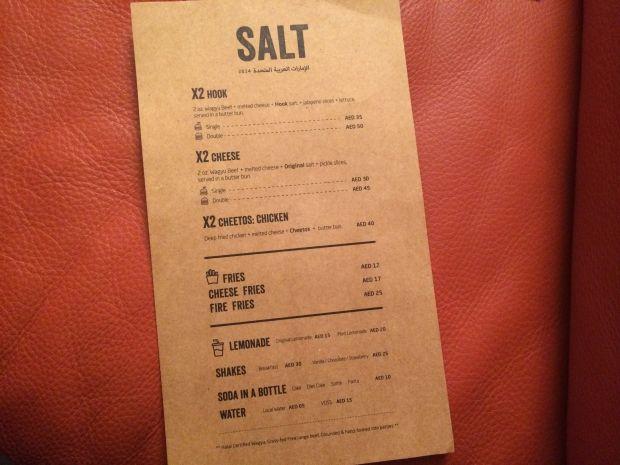 Silver Salt Restaurant Menu